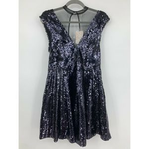Free People Dress XS Black Sequined party Formal